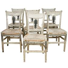 French Provincial Dining Room Sets 8 French Provincial Green Painted Dining Room Chairs At 1stdibs