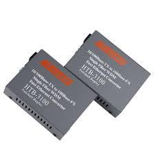 1 Pairs / Lot <b>HTB</b>-<b>3100AB</b> Gigabit <b>Fiber Optical</b> Media Converter ...