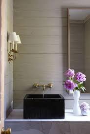 wood vanity stone sink brass wall mounted