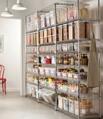 Great Kitchen Storage Wonderful White L Shaped Rack And Pantry Shelving Design With