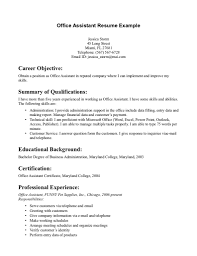 resume for office assistant getessay biz office resume example office resume example resume for office