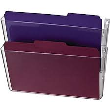 officemate wall files 2 pockets letter clear 13 x 4 nice wall hanging office organizer 4