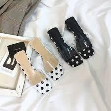 <b>Women's</b> Clear <b>Sandals Slippers Low</b> Cuban Heels Open Toe ...