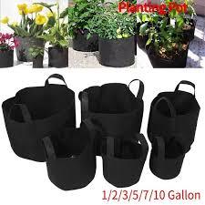 1/<b>2</b>/3/5/7/10 <b>Gallon Black Plants</b> Growing Bag Vegetable Flower ...