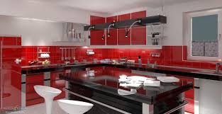 red architecture awesome kitchen design idea red