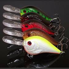 5PCS <b>Crankbait</b> señuelos de pesca Anzuelos Pesca Cebo agudos ...