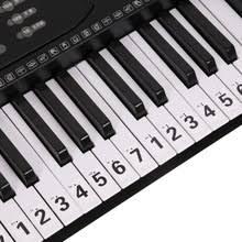88 клавишная фортепианная <b>наклейка</b> прозрачная, в форме ...