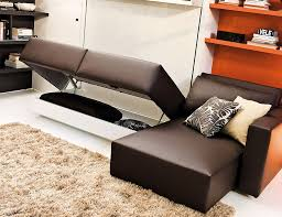 view in gallery space conscious murphy bed and couch system perfect for the modern bachelor pad awesome murphy bed office