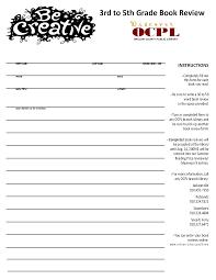 Book report rubric  rd grade   durdgereport    web fc  com Daily Oral Language Resource Book  Gr