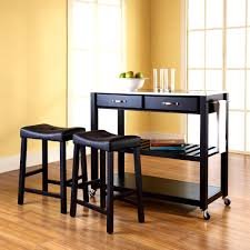 kitchen island mobile:  outstanding mid size kitchen island wood top movable cart portable stools small full size