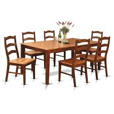 kitchen table sets bo: east west furniture henley  piece x rectangular dining table set