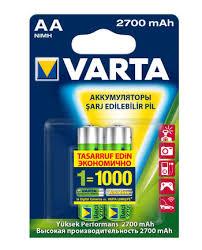 <b>Аккумулятор Varta</b>, тип АА, 2700 мАч, 2 шт — купить в интернет ...