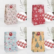 <b>QFU Packing Christmas Gift</b> Bag Candy Box Kraft Bag Paper ...