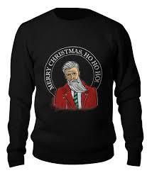 Свитшот унисекс хлопковый <b>Printio</b> Merry Christmas, <b>ho ho ho</b> ...