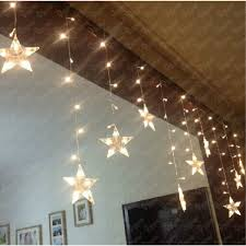 multicolor led star string lights battery operated for indoor outdoor 4 battery powered indoor lighting