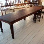 dining table that seats 10:  dining room tables that seat  extra long rectangle brown wooden table with six legs awesome