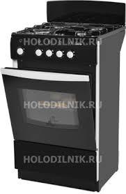 Газовая плита <b>DeLuxe 5040.38 г</b> (щиток) <b>черный</b> купить в ...