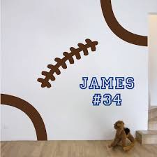 sun wall decal trendy designs: football stitches wall decal trendy wall designs