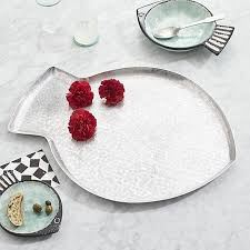 fish large aluminum tray i crate and barrel paola navone collection aluminum crate barrel