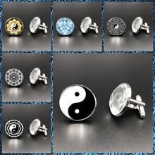 Fashion Astrology Glass <b>High Quality Men</b> Cufflinks Creative ...