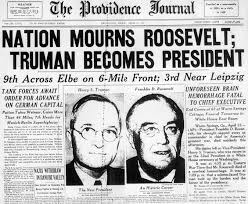 「roosevelt death」の画像検索結果