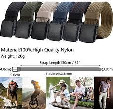 Nylon Belt for <b>Men</b>, Military Tactical Belt with YKK Plastic Buckle ...