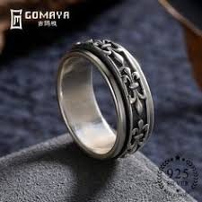 <b>GOMAYA Men</b> Women <b>Ring</b> Fine <b>Jewelry</b> Real 925 Sterling Silver ...