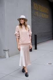 Light beige cream <b>silk</b> slip skirt midi <b>100</b>% <b>real silk</b> satin midi skirt ...