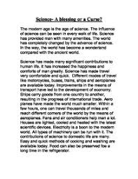 science in the modern world essay