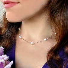 <b>ASHIQI Real 925 Sterling</b> Silver Necklace Chain 6 7mm Natural ...
