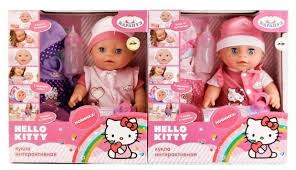 Интерактивный <b>пупс</b> Карапуз <b>Hello Kitty</b>, 30 см, Y30-DP-OTF-RU-HK