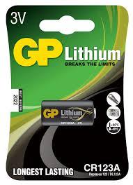 Купить <b>Батарейка GP</b> Lithium <b>CR123A</b> литиевая, 1 шт с ...