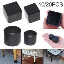 <b>8Pcs Rectangular Silicone</b> Chair Leg Cap Non-Slip Table Foot ...