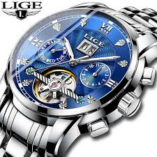 Online Shop <b>Relogio Masculino LIGE Men</b> Watch Mechanical ...