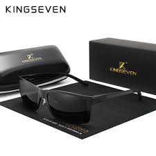 Black gray KINGSEVEN Brand Design Fashion Aluminum ...