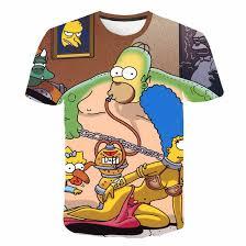 New Spring T shirt <b>Simpson printing</b> 3D men's women's T shirt ...