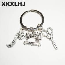 Online Shop 2018 Fashion Jewelry <b>Sewing</b> Machine Keychain ...