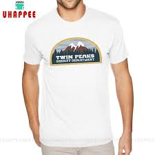 Short Sleeves Round Neck Cotton <b>Twin Peaks Sheriff Department</b> T ...