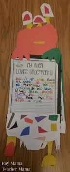 alien s love underpants craft and writing activity if you would like to our writing templates click here
