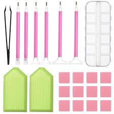 <b>Diamond Painting Tools DIY</b> Diamond Stitch Pen Kit with Tweezers ...