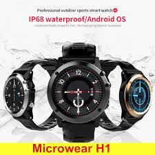 smartch new h1 smart watch ip68 waterproof 500w camera compass 3g gps bt wifi calls 4gb 512mb clock for android ios phone