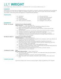 customer service representative resume example contemporary    customer service representative resume example contemporary