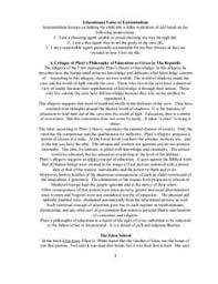 Free Philosophy of Education Essays and Papers Essay