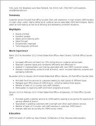 professional post office counter clerk templates to showcase your    resume templates  post office counter clerk