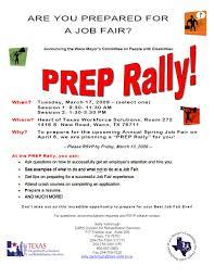 are you prepared for a job fair rally waco deaf network of texas are you prepared for a job fair rally waco