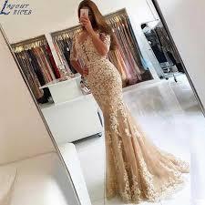 SQ208 robe de soiree <b>Sweetheart Vintage</b> Gold Mermaid Evening ...