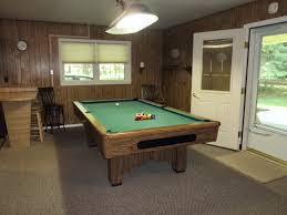 kitchen room pull table: pool table room next to half kitchen w nd refrigerator