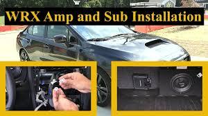 <b>WRX</b> Aftermarket Amp and <b>Sub</b> Installation: Sound System <b>Upgrade</b> ...