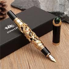 <b>jinhao golden dragon</b> heavy fountain pen clip medium nib 18kgp ...