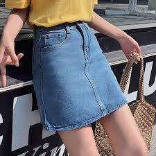 2019 <b>Loyalget</b> Street Wear Blue Casual Mini <b>Denim Skirt</b> 2019 ...